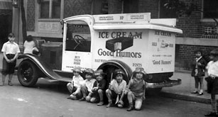 Good Humor Ice Cream Truck, NYC c 1926; Unilever 1999, via Farmers Museum, Cooperstown