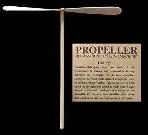 Old Fashion Flying Machine-Wood Propeller
