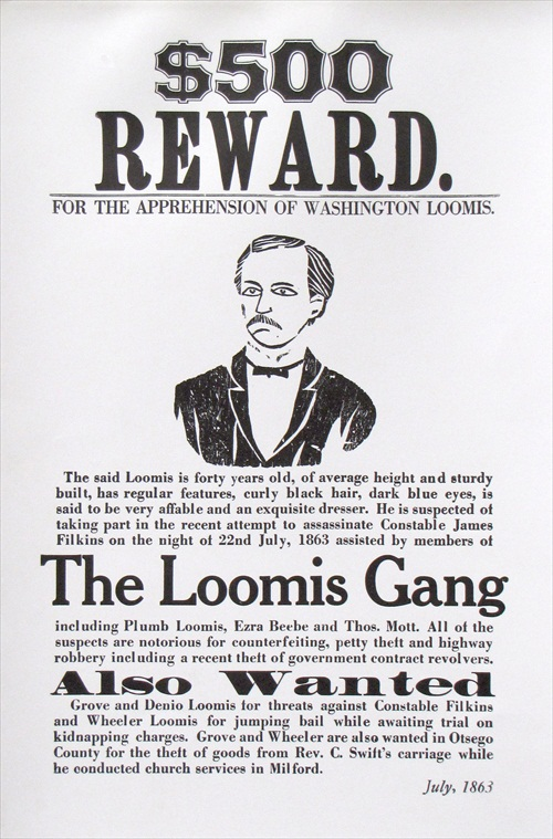 Loomis Gang Poster, The Farmersu0027 Museum  Examples Of Wanted Posters