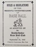 Knickerbocker Baseball Rules